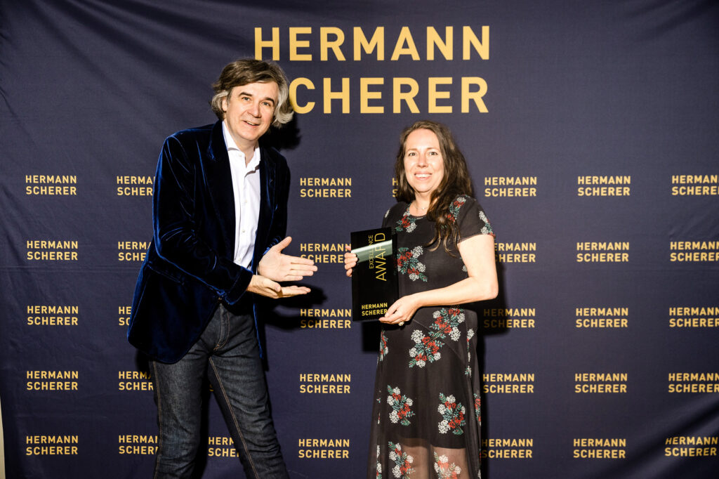 Peggy Reuter-Heinrich at the presentation of the Excellence Award