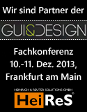 HeiReS ist Partner der GUI&Design 2013