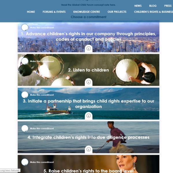 Pilotpartner beim GlobalChildForum für WePledge4Children