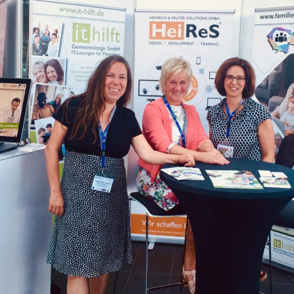 HeiReS als Aussteller zusammen mit IT hilft auf dem Silicon Saxony Day